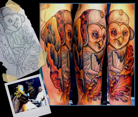tattoo shops in st cloud mn barn owl by scotty munster tattoonow