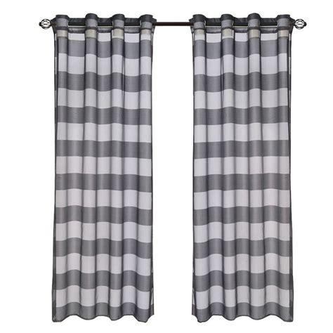 grommet curtains 108 length lavish home black sofia grommet curtain panel 108 in