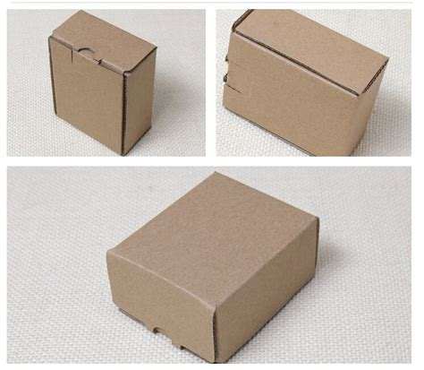tiny in a box 8 8 7 4cm small kraft cardboard box small brown