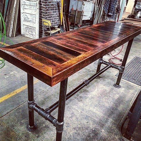 barn board hightop pipe base table jpg 640 215 640 project
