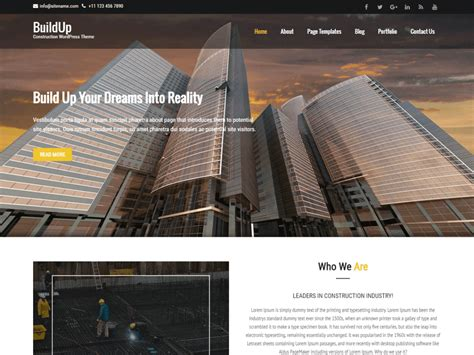 renovation theme buildup free construction and renovation wordpress theme