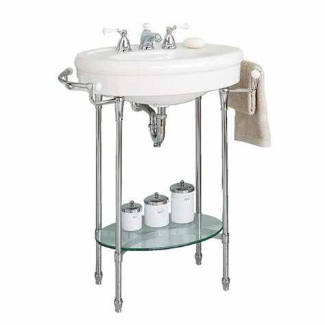 bathroom sink with legs standard quot standard quot console sink with chrome legs