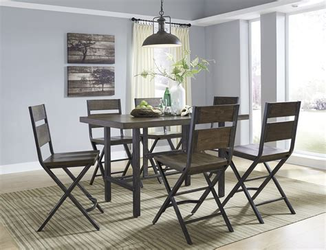 dining room packages kavara high top dining collection rustic brown d469