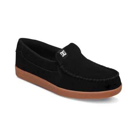 dc shoes villain slip on sneakers in black for black
