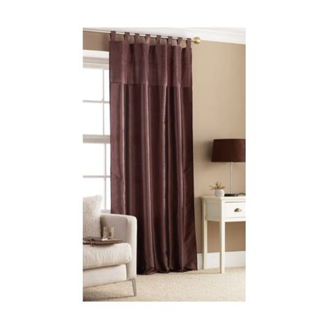 brown tab top curtains brown tab top embroidered curtain panel hd home direct