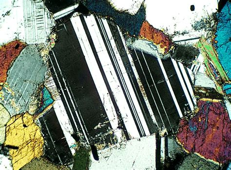 plagioclase in thin section plagioclase thin section geology pinterest