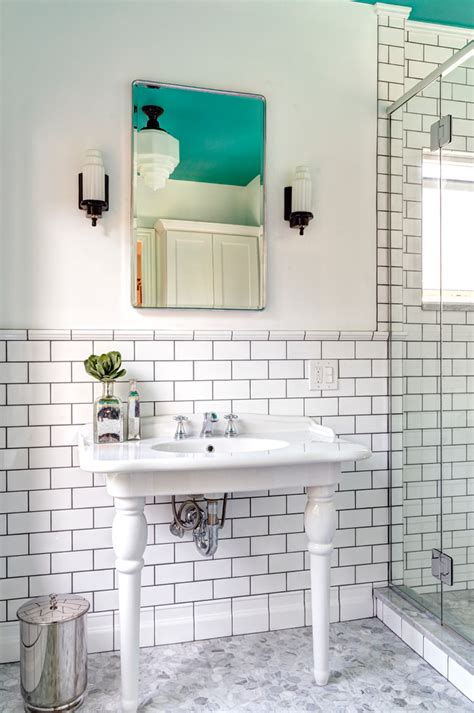 beautiful recessed medicine cabinets  bathroom transitional  porcelain tile