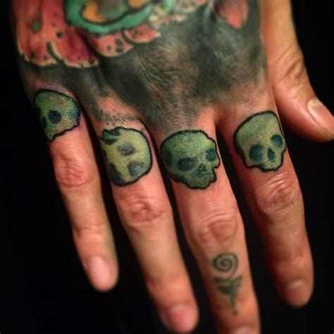 multiple skull tattoo designs 88 badass knuckle tattoos that look powerful