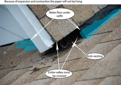 roof valley flashing common problem   leaks