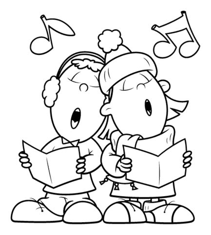 Sing A Song Together Coloring Page Supercoloring Com Singing Coloring Pages