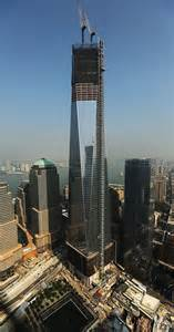one world trade center viewed from the 72nd floor of four