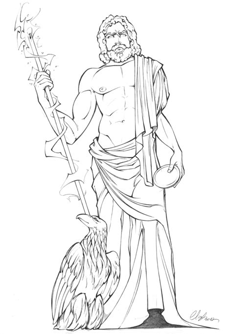 pin zeus the greek king of gods coloring page on pinterest