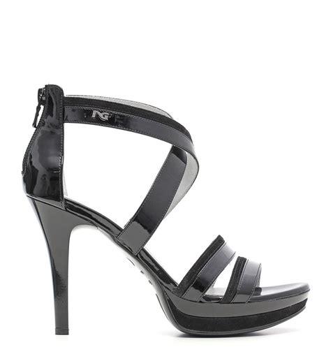 sandali nero giardini nero giardini sandali eleganti con tacco in pelle nera