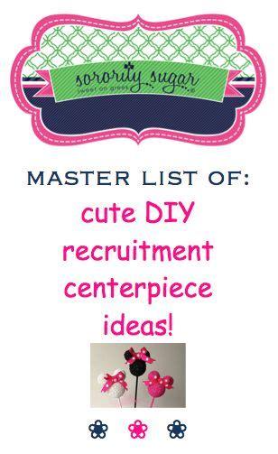 cute recruitment themes inexpensive recruitment centerpiece ideas crafting