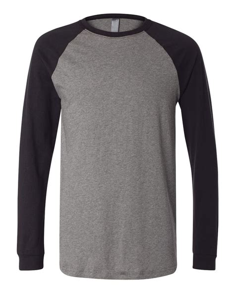 template t shirt raglan bella canvas long sleeve jersey baseball tee 3000 ebay