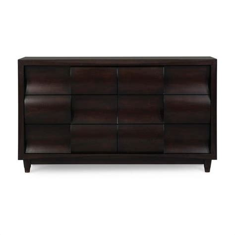Black Glass Dresser by Magnussen Fuqua Wood 6 Drawer Dresser In Black Cherry