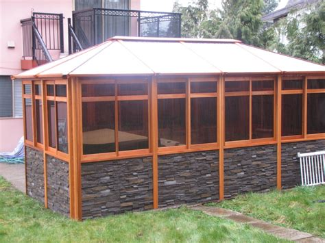 cedar gazebo kits cedar gazebos with rock siding cedar gazebos gazebo kits