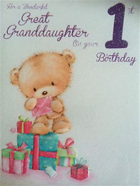 Great Granddaughter 1st Birthday Card Great Granddaughter 1st Birthday Card Ebay