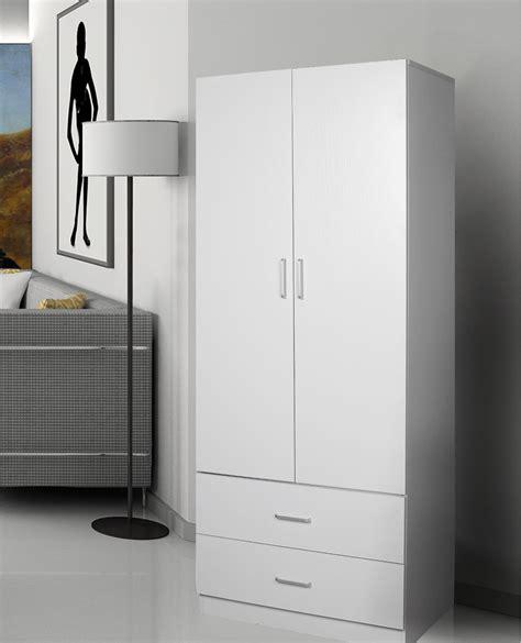 redfern 2 door 2 drawer wardrobe storage cabinet black