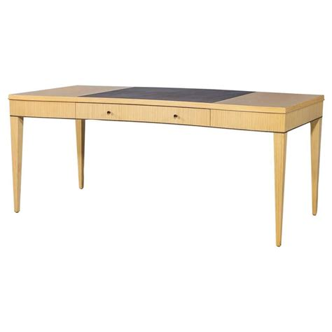 Councill Furniture by Councill Serpentine Desk With Inlaid Leather Top At 1stdibs