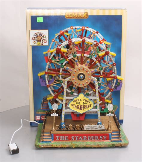 lemax village collection the starburst ferris wheel ex box