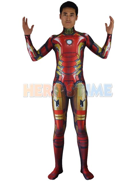 Sale Iron Spandex 2016 iron armor costume 3d design spandex lycra for suit ebay