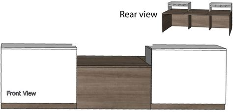 Contrasts Custom 2 Person Reception Desk 16 W Desk 2 Person Reception Desk