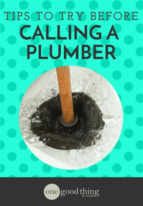Call A Plumber Easy Tips To Try Before You Call A Plumber One