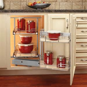 Corner Kitchen Cabinet Shelf Rev A Shelf Premiere Quot Blind Corner Kitchen Cabinet System With Maple Shelves With Free