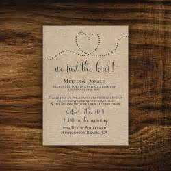 camilla printable printed elopement reception invitation reception only already married we