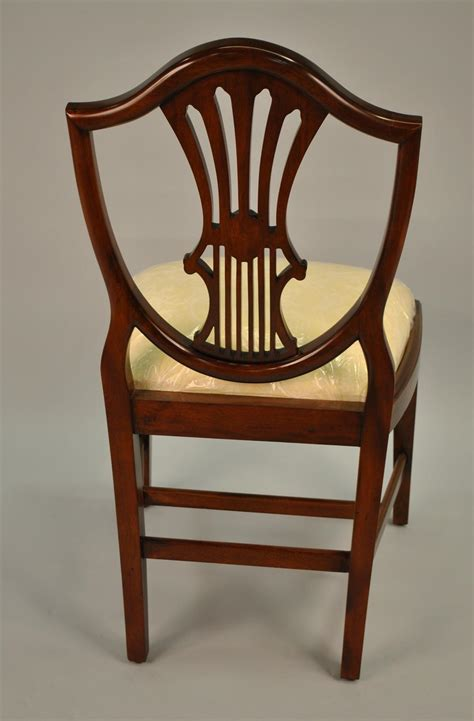 Antique Mahogany Dining Room Furniture Small Vintage Size Shield Back Dining Room Chairs Solid Mahogany