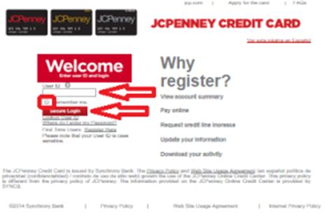 jcpenney credit card payment make payment jc penney pay bill my bill bill payment