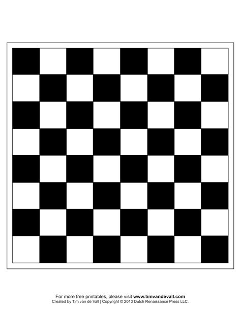 Chess Board Template Tim S Printables In Out Board Template