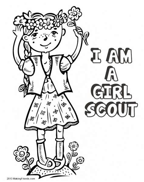 Girl Scout Coloring Pages For Brownies Coloring Home Brownie Scout Coloring Pages