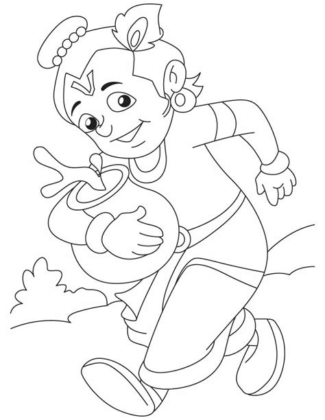 chota bheem or krishna az coloring pages