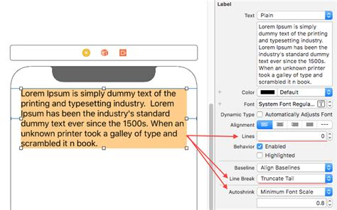 builder pattern in objective c ios multiline label in interface builder active