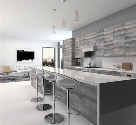 cuisine grise plan de travail blanc cuisine grise la cuisine tendance en 40 mod 232 les gris