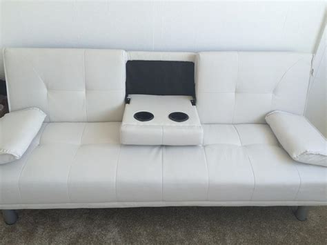 White Leather Futon Sofa Bed Sofa Bed White Leather Sofa Walsall Dudley