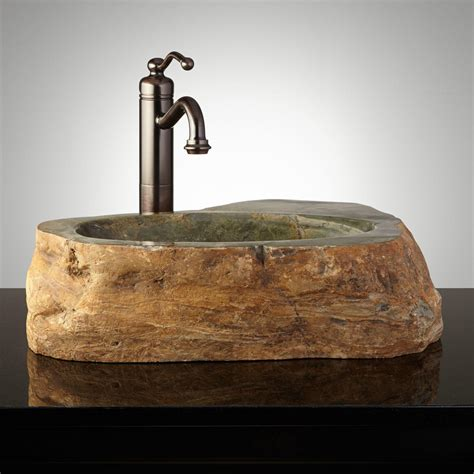 stones in bathroom sink inspiring stone bathroom sinks 3 natural stone vessel