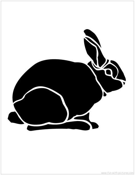 printable rabbit stencils bunny silhouettes stencils printable