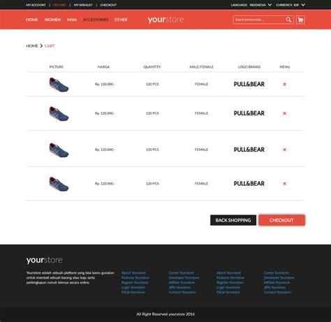 layout online bootstrap slicing layout toko online responsive menggunakan