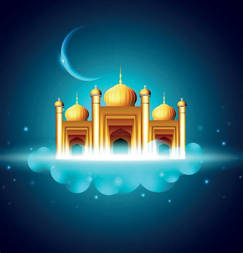 Design Masjid Vector Free Download | mosque flyers vector element design webbyarts