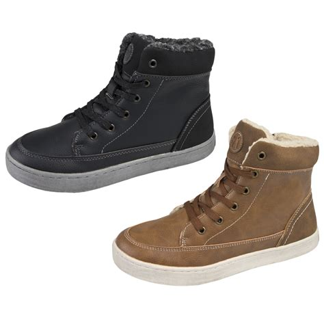 fleece lined boots fleece lined hi tops ankle boots trainers womens boys