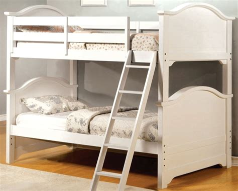 White Bunk Bed Ladder Chesapeake White Bunk Bed With Angled Ladder Cm Bk616w