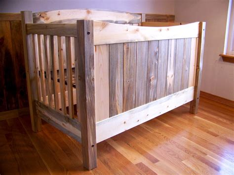 Diy Baby Crib by Beetle Kill Pine Blue Stain Crib Toddler Bed Set By