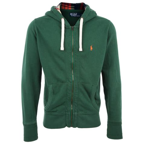 Hoodie Polos Salsabila Cloth Polo Ralph Zip Through Hoodie In Green For Lyst