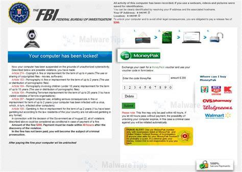 fbi bureau remove federal bureau of investigation virus moneypak scam