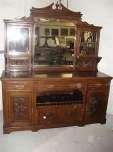 late victorian oak mirror  sideboard antiques atlas