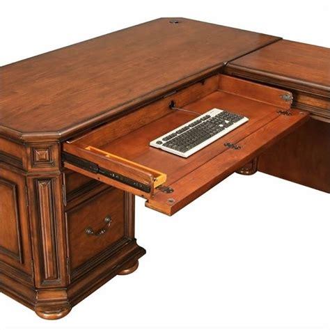Riverside Desks by Riverside Furniture Cantata L Shaped Desk And Return 4928