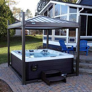 backyard spa cover best 25 tub garden ideas on